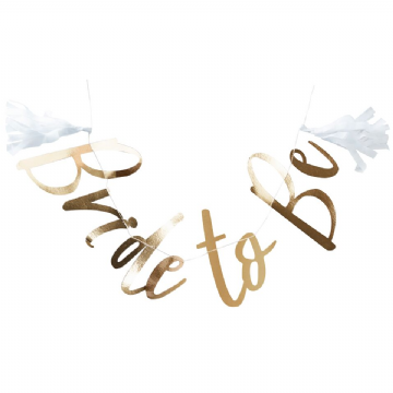 "Gold ""Bride To Be"" Bunting"